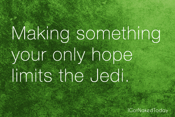 It's Not Easy Being A Jedi (The Force Weakens)