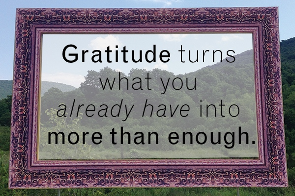 Gratitude turns what you already have into more than enough.