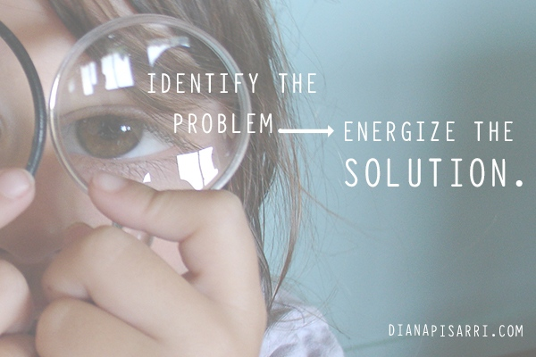 Identify the problem.  Energize the solution.
