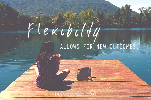 FLEXIBILITY allows for a new outcome.