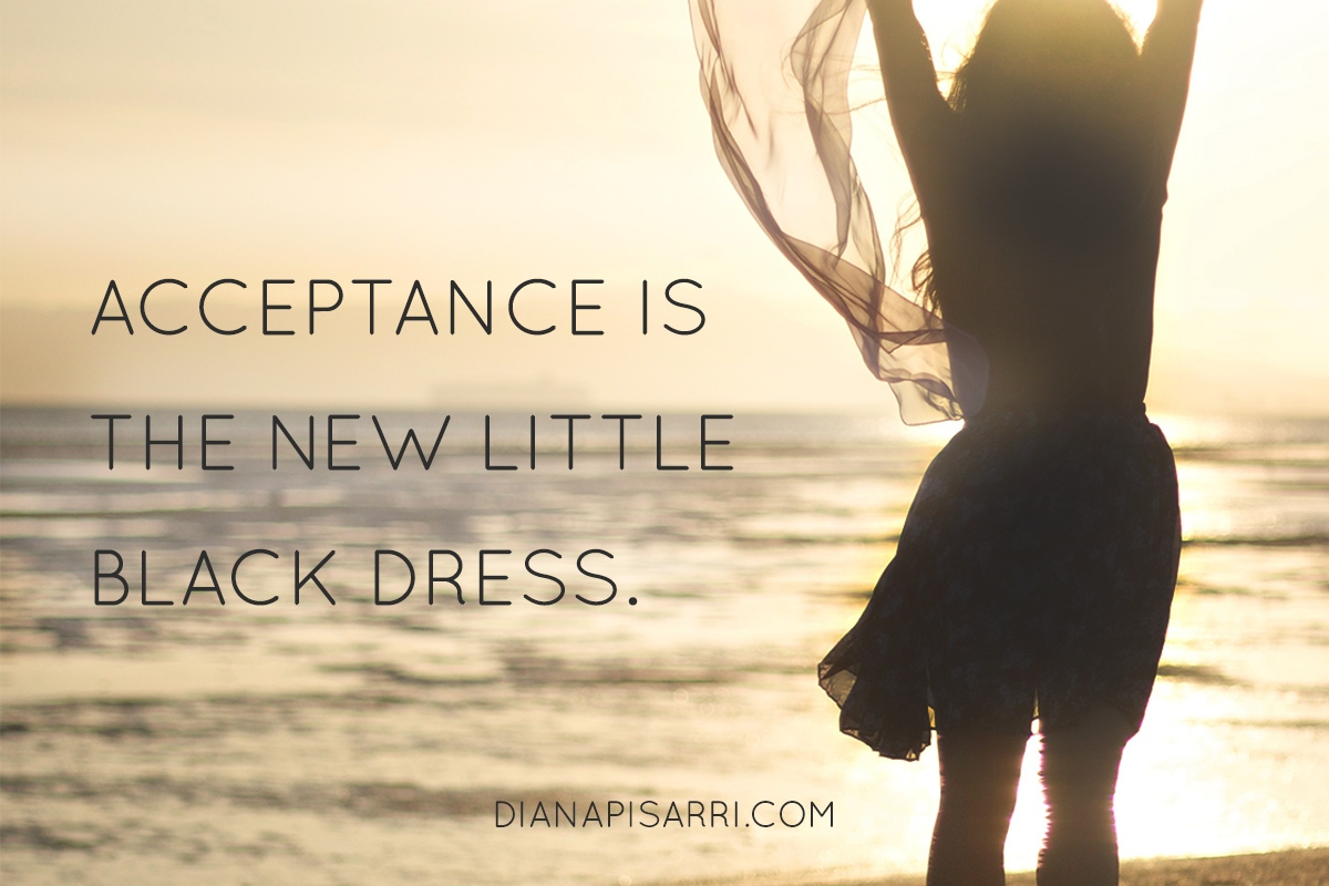 Acceptance in the new little black dress.